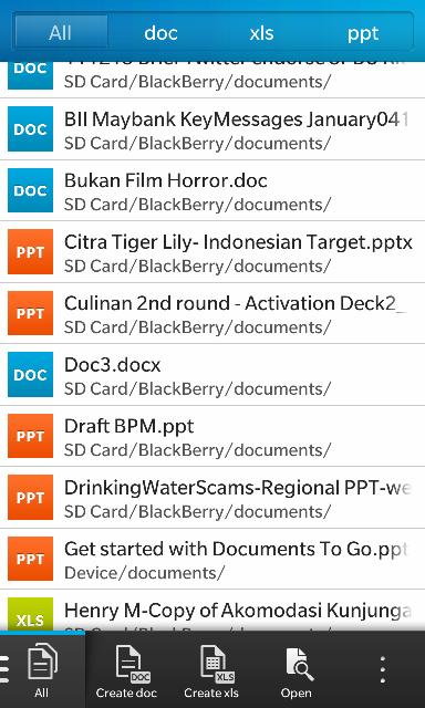 Docs to Go sudah jadi app bawaan di Z10