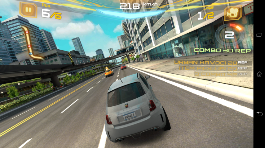 Asphalt 7. Game experience di Z Ultra sekenceng gamenya.