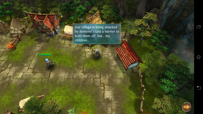 Heroes of Order & Chaos, game RPG. Perhatikan detail environmentnya.