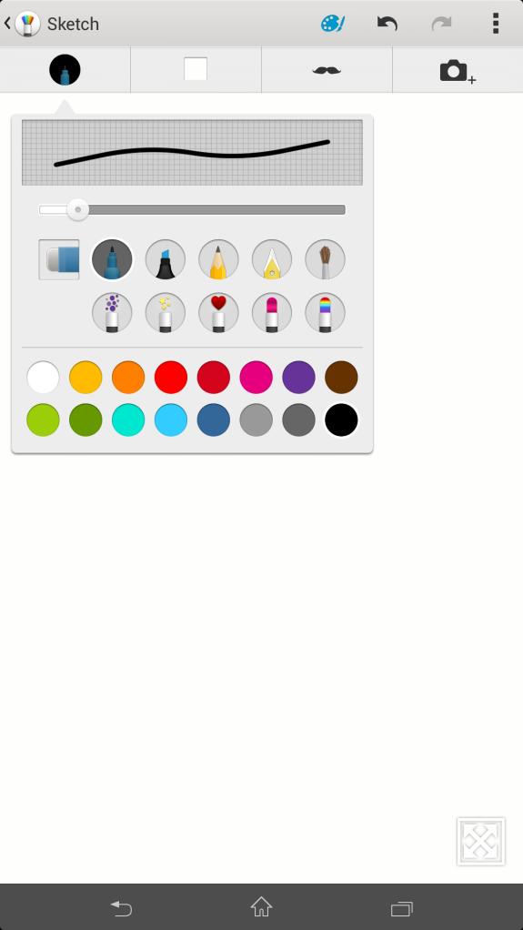 Pilihan bentuk pena bisa diubah2, begitu juga ketebalan dan warna