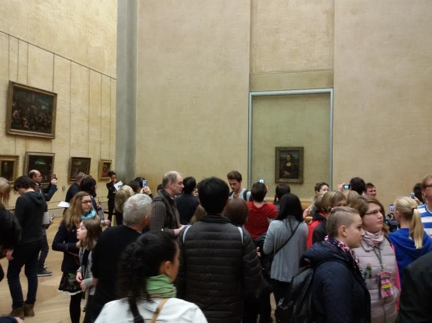 Monalisa di dalam Louvre